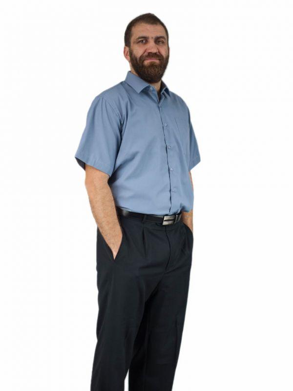 Popielata duża bawełniana koszula męska