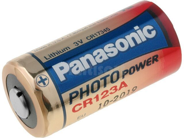 Bateria litowa PANASONIC 3V CR123A, CR17345 fi17x34,2mm