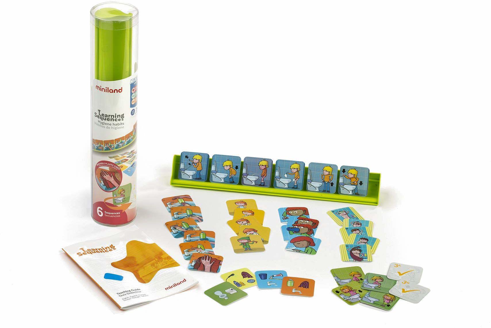 Miniland 31968 sekwencje naukowe nawyki higieniczne, wielokolorowe