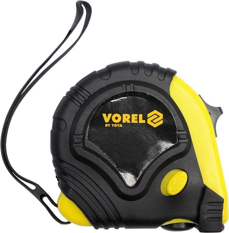 Miara zwijana żółto-czarna 10 m x 25 mm Vorel 10129 - ZYSKAJ RABAT 30 ZŁ
