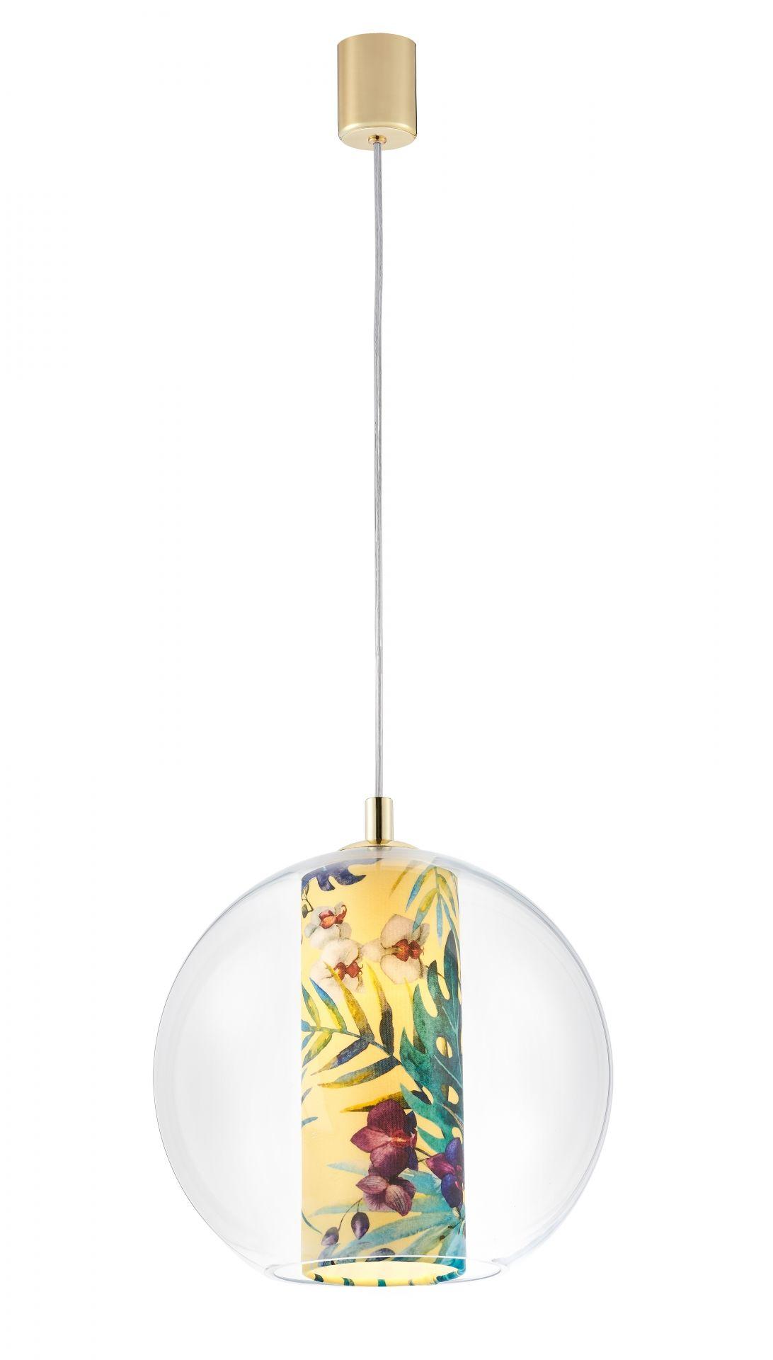 Lampa wisząca Feria M 10902114 KASPA dekoracyjna oprawa ze szklanym kloszem