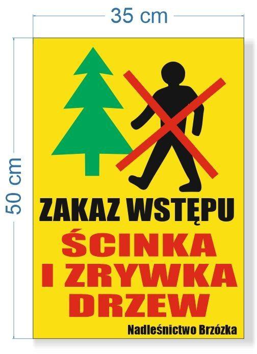 Tabliczka Zakaz Wstępu- dwie tabliczki