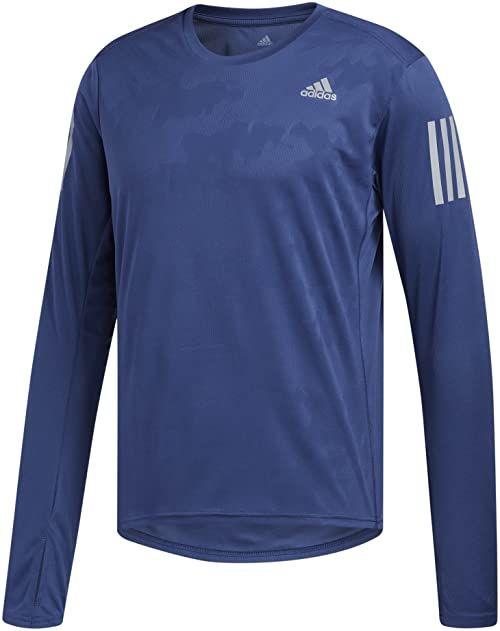 adidas Męska koszulka z długim rękawem, niebieska (indnob), XS