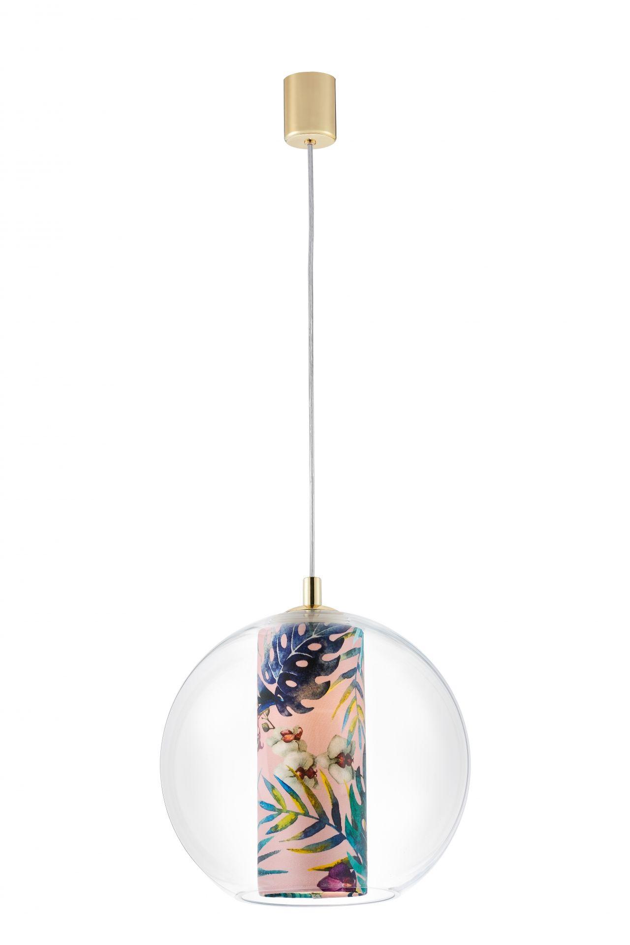 Lampa wisząca Feria M 10907116 KASPA dekoracyjna oprawa z kulistym kloszem