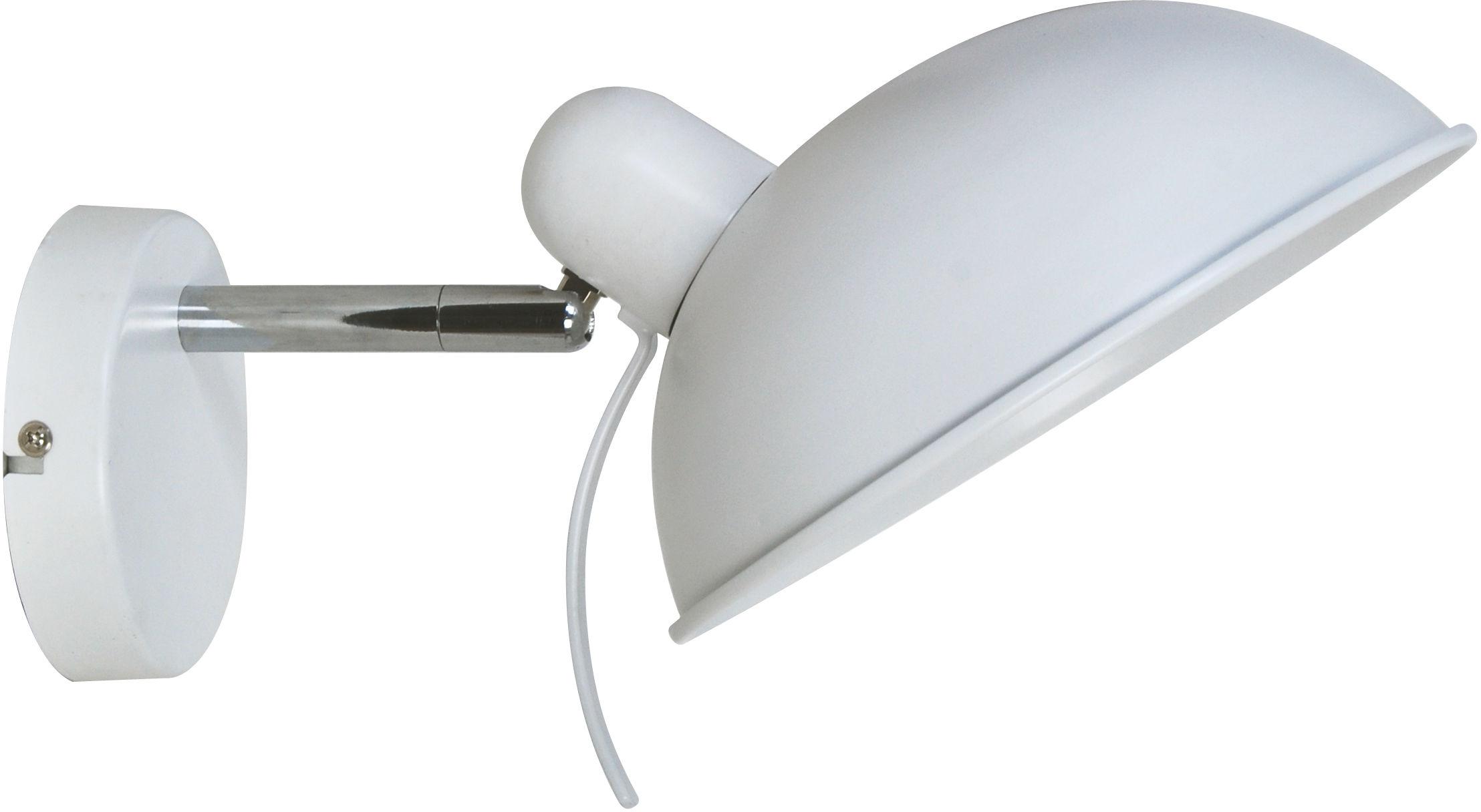 Candellux DURIO 21-51448 kinkiet lampa ścienna biały regulowany klosz 1X40W E14 21cm