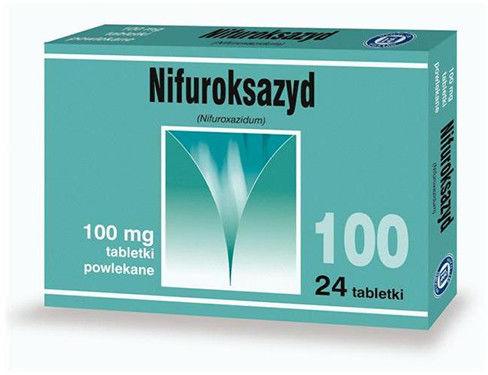 Nifuroksazyd 100mg, 24 tabletki