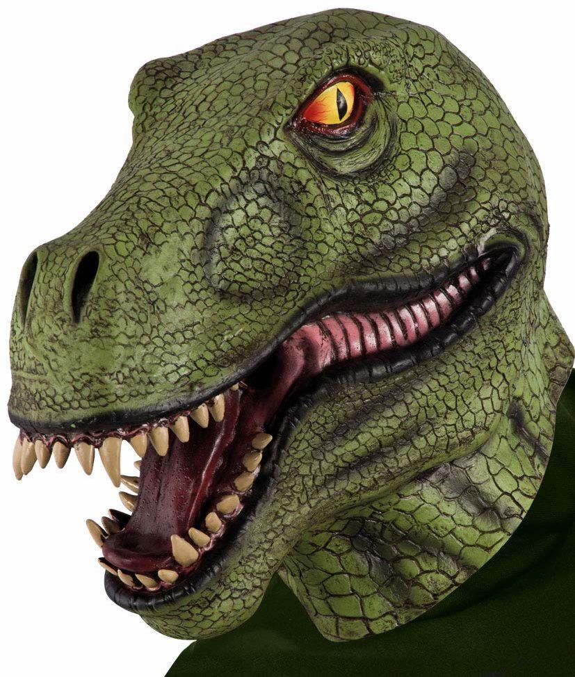 Carnival Toys 1024  Maska dinozaury, lateks, zielona