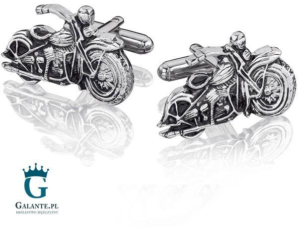 Spinki do mankietów motocykl harley kc-37