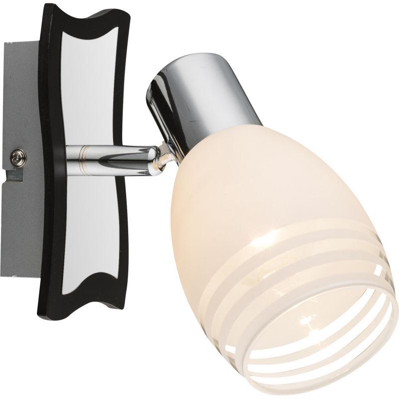 Globo TOAY 541010-1 kinkiet lampa ścienna chrom MDF Venge 1xE14 40W 19cm