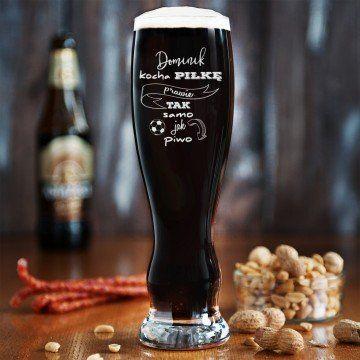 Kocha Piłkę - Grawerowana Szklanka do piwa