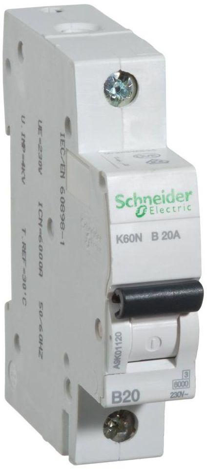 Wyłącznik nadprądowy K60N - B20 - 1 20 A SCHNEIDER ELECTRIC