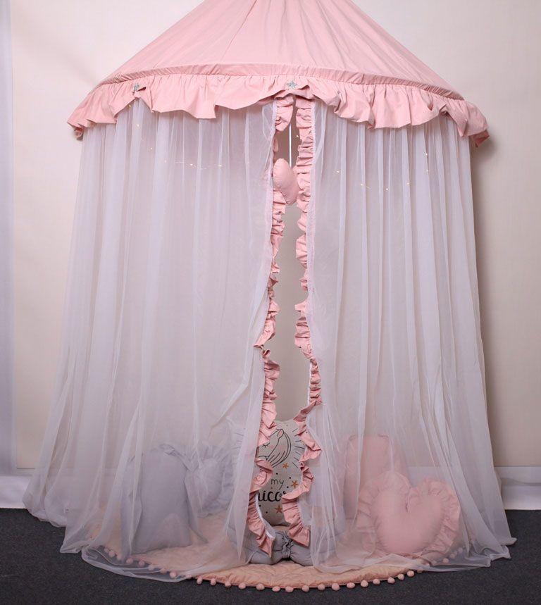 Różowo-biały baldachim dla dziewczynki - Sentopia 2X