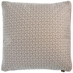 Poduszka, geometryczna 45 * 45 cm z krawędzią tego samego materiału + wypełnienie 480 g (czekolada)