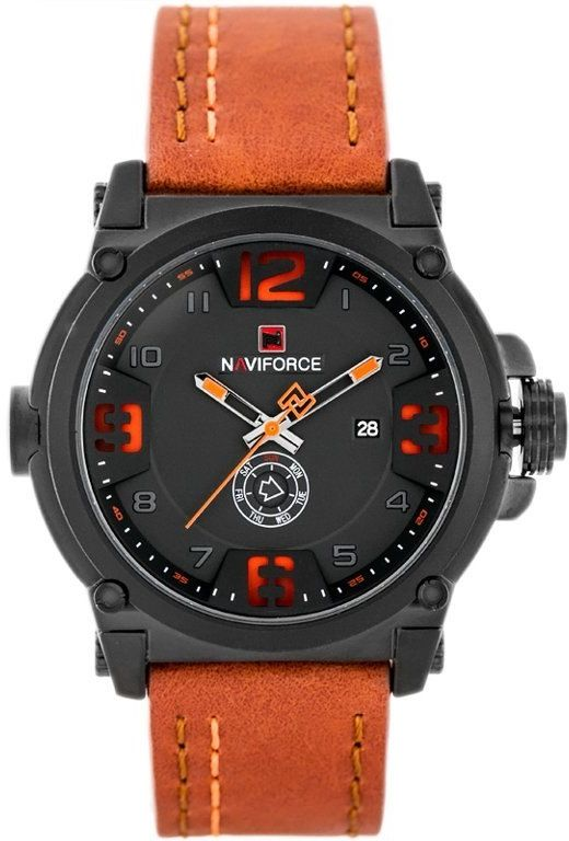 ZEGAREK MĘSKI NAVIFORCE - NF9099 (zn079c) - orange + box