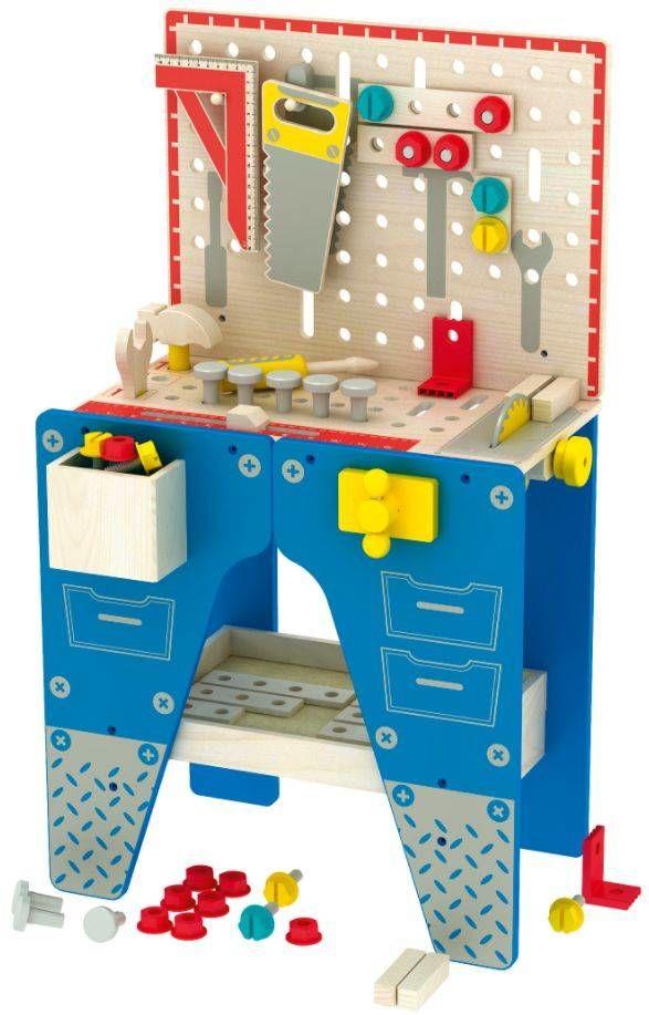 Drewniany warsztat dla dzieci z narzędziamiami Super majsterkowicz