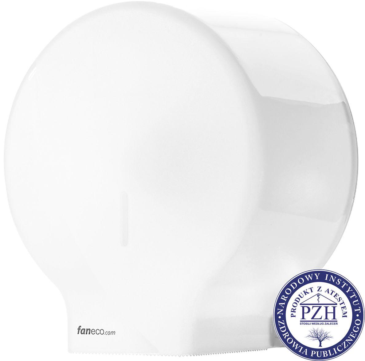 Pojemnik na papier toaletowy Faneco ECO Midi plastik biały