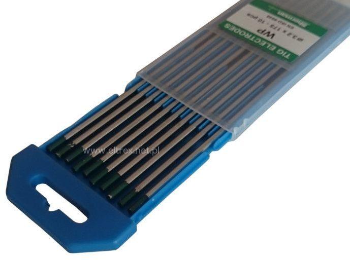 Elektroda wolframowa WP 1,6x175 zielona