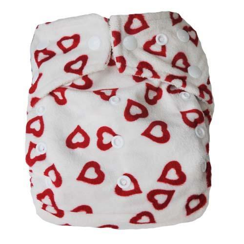 pieluszka wielorazowa dwurzędowa BAMBOO czerwone serce