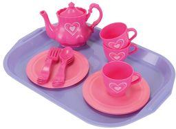 Simba 104735259 - zestaw do herbaty z tacą, 2-sortowany