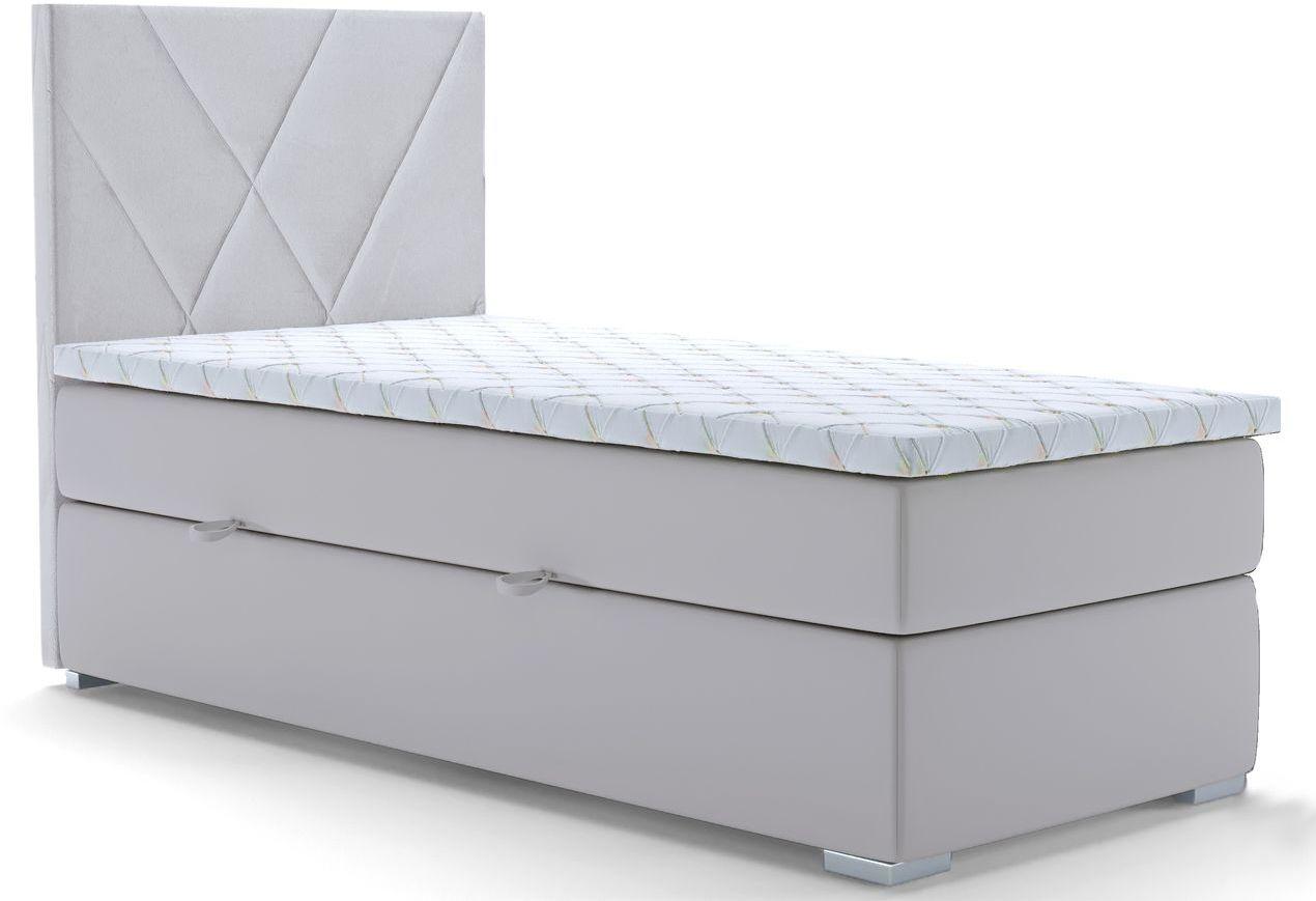 Pojedyncze łóżko boxspring Orlando 80x200 - 58 kolorów
