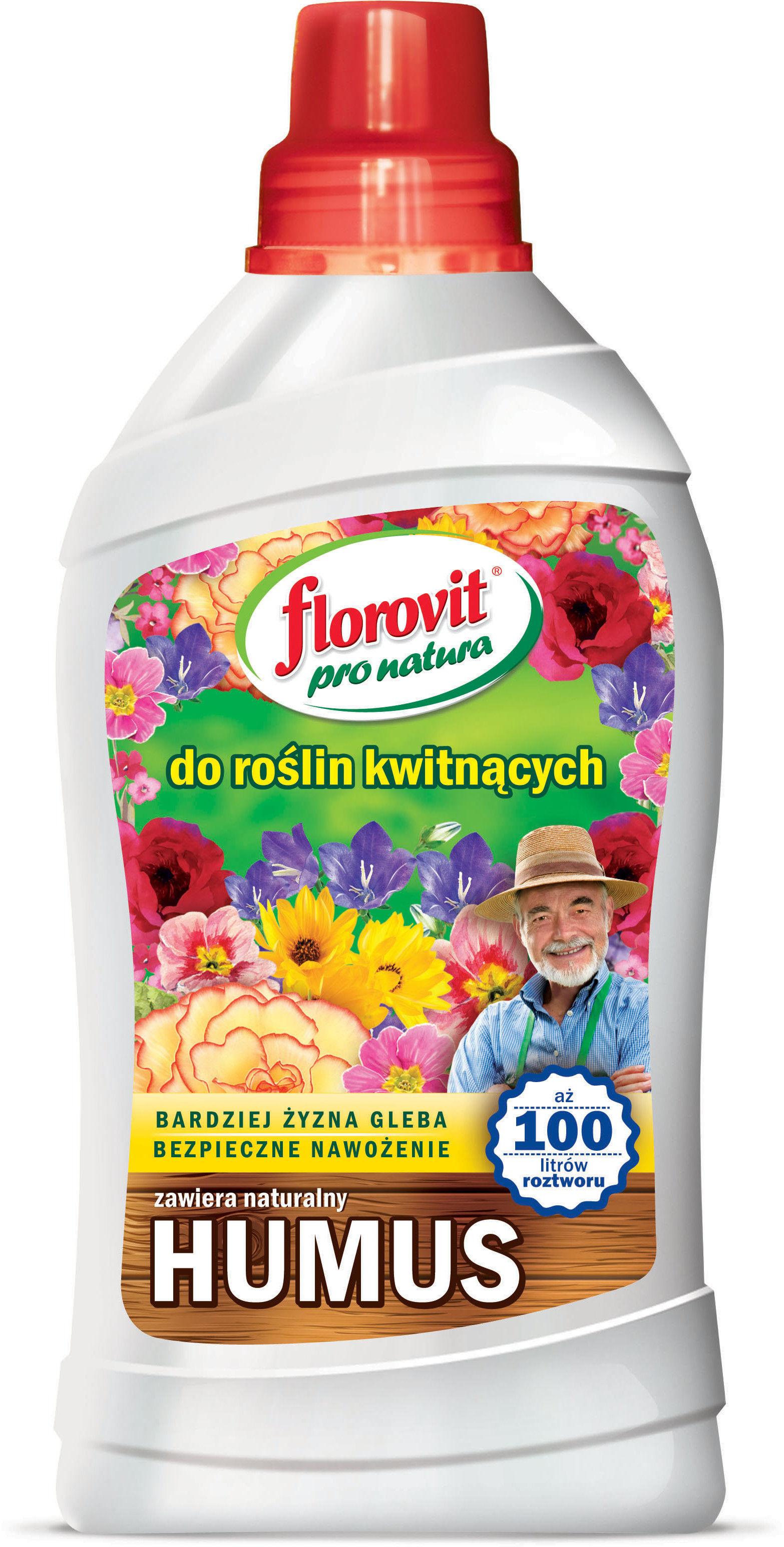 Florovit Pro Natura Nawóz organiczno-mineralny do roślin kwitnących 1l