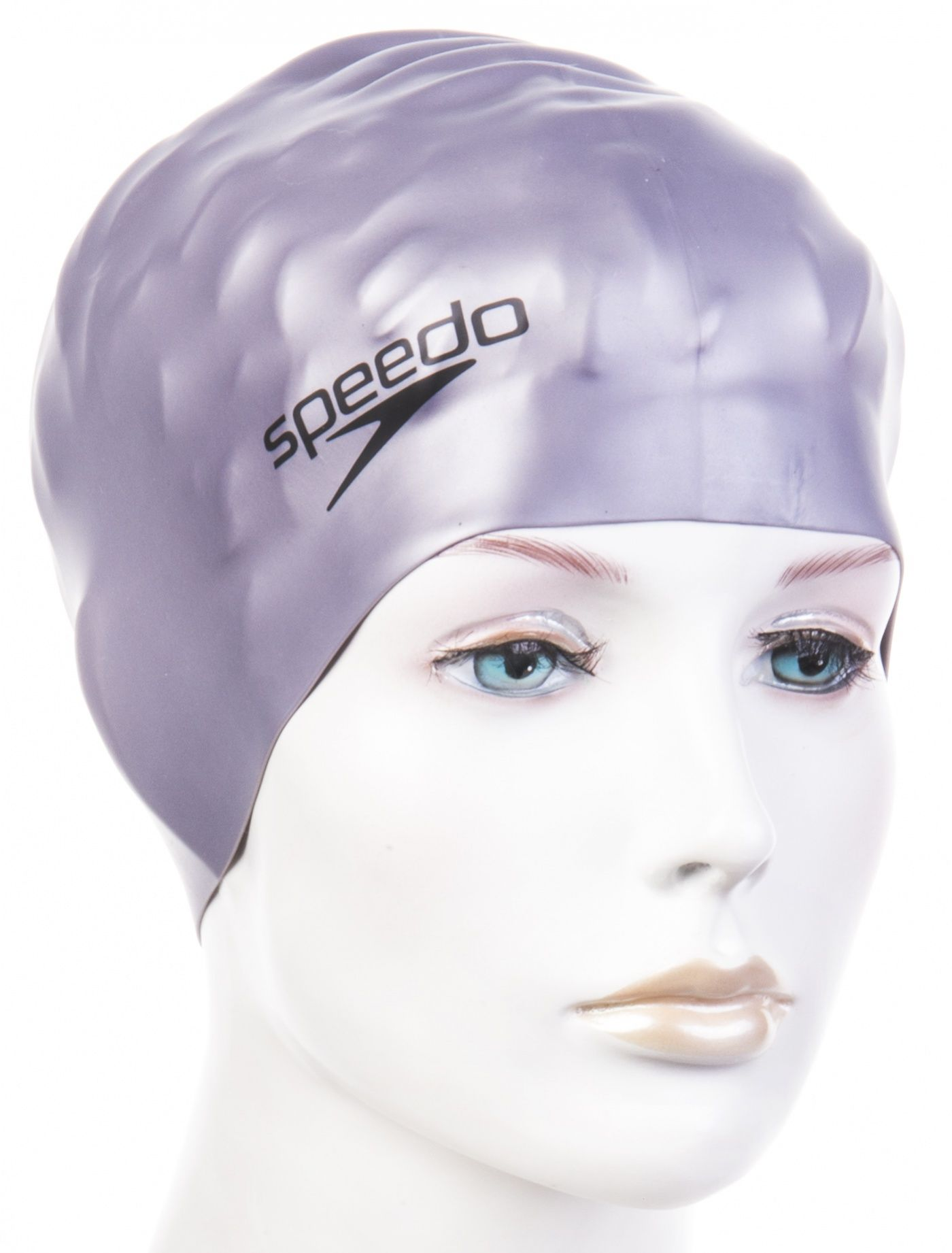 Czepek pływacki speedo plain flat silicone cap srebrny