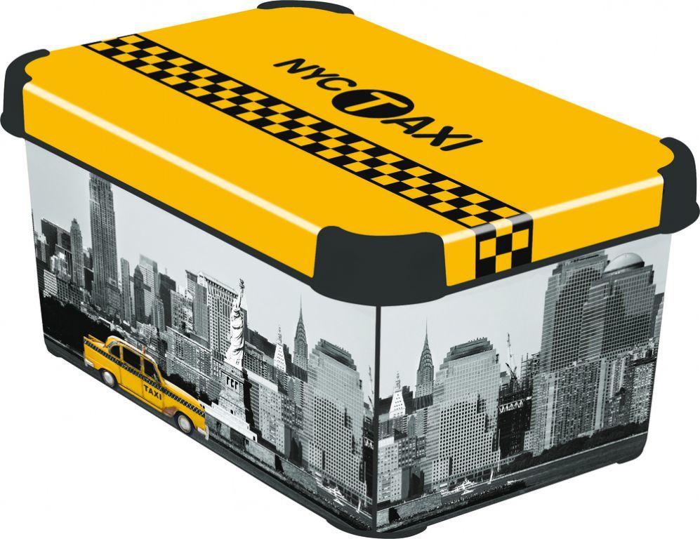Pudełko do przechowywania z pokrywką - S - NY CITY CURVER