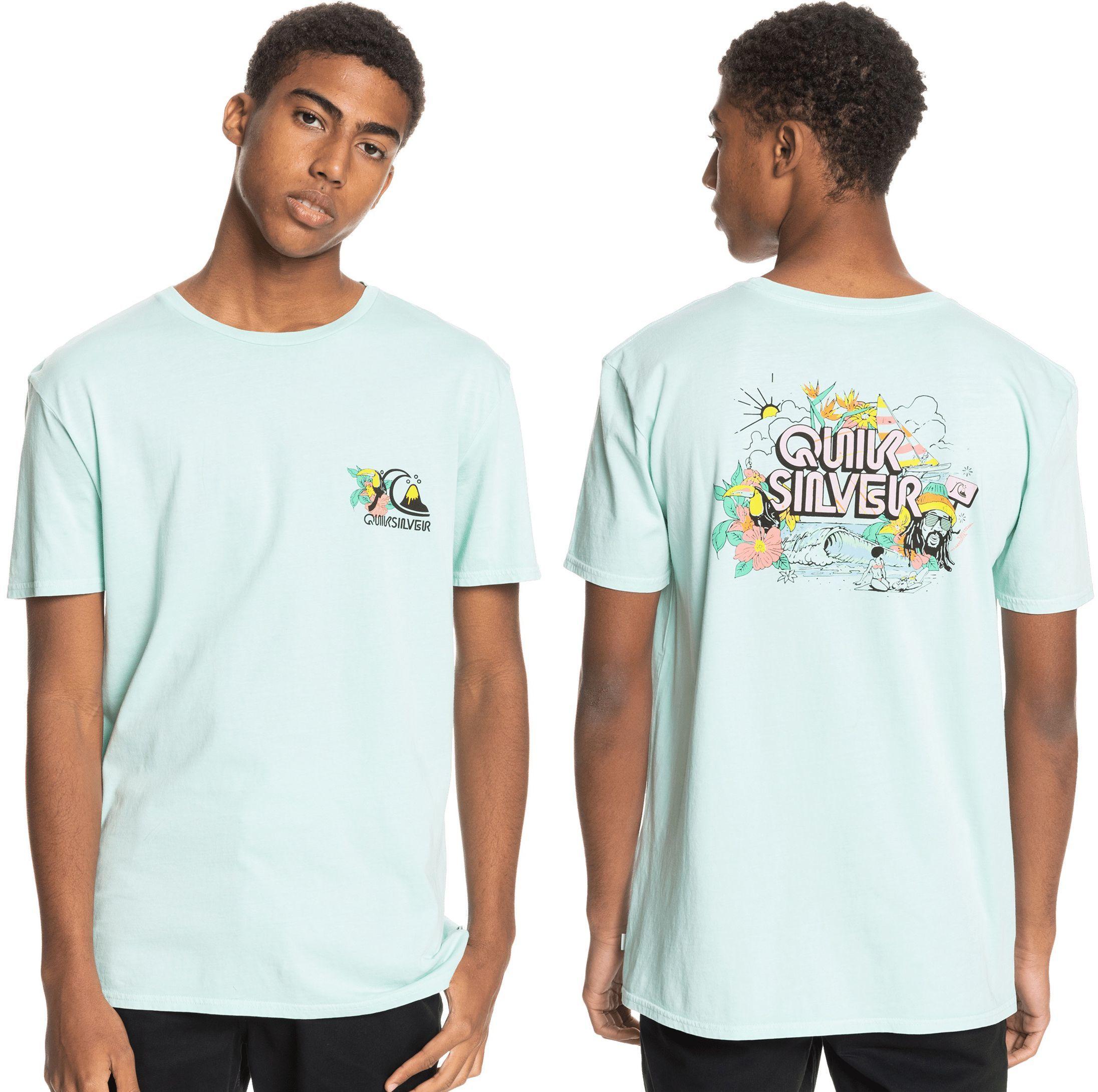 t-shirt męski QUIKSILVER INFORMAL DISCO TEE Blue Tint - BET0