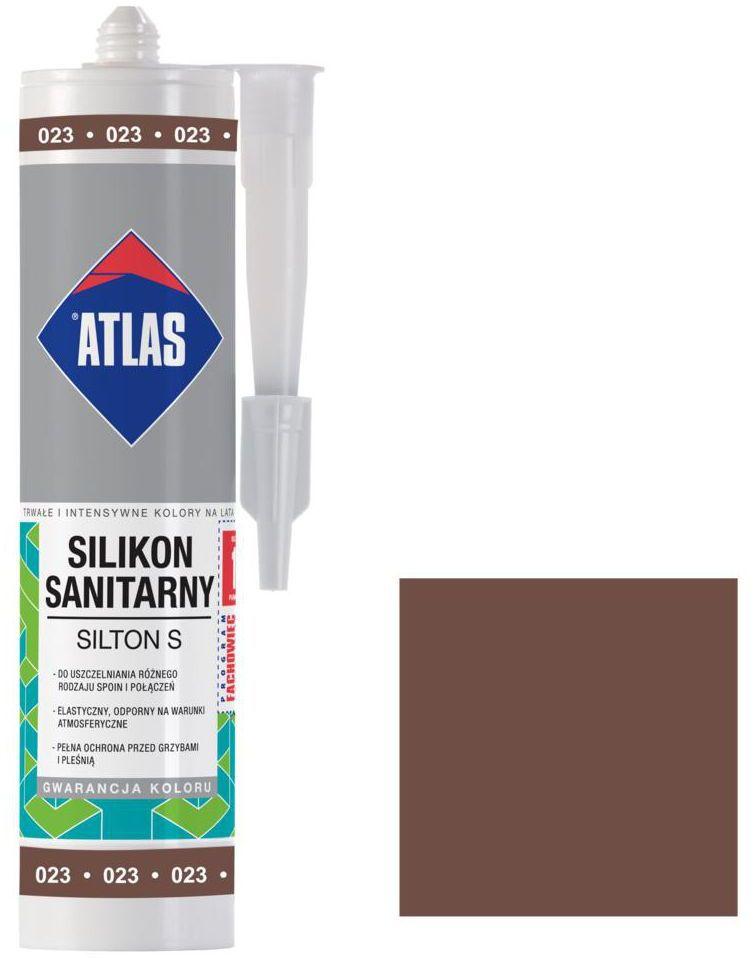 Silikon sanitarny 023 280 ml Brązowy ATLAS