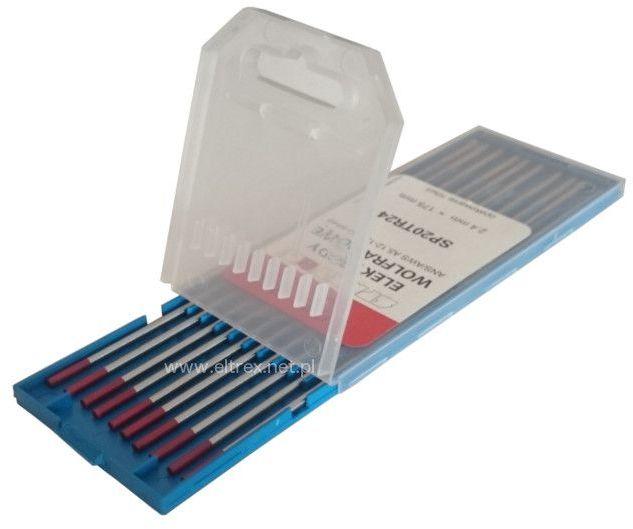 Elektroda wolframowa WT20 2,4x175 czerwona