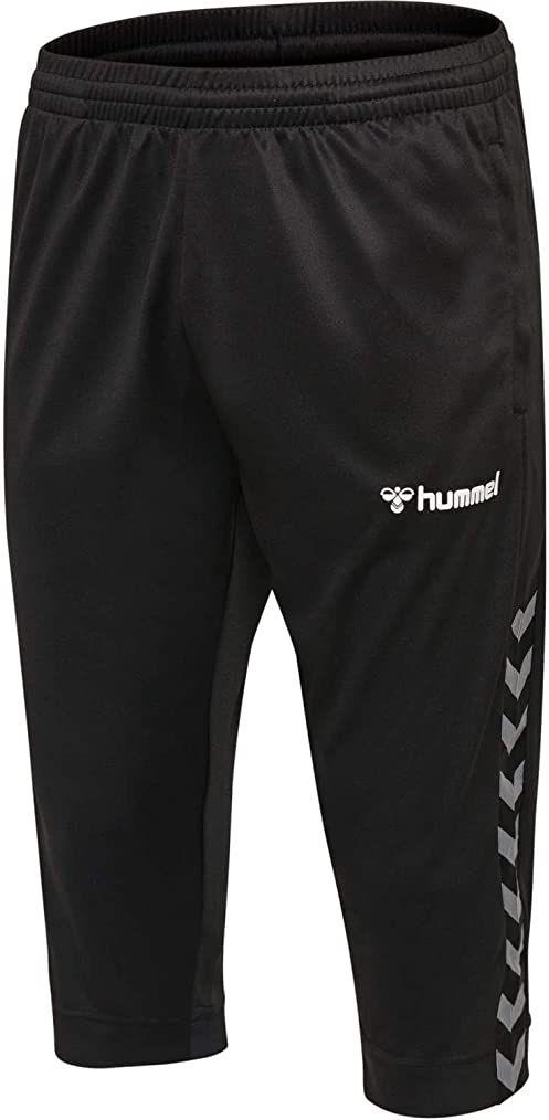 Hummel HmlAuthentic Kids spodnie chłopięce, 3/4 czarny czarny/biały 128