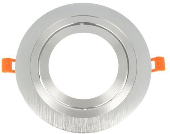 Oprawa oczko sufitowe aluminiowe AR111 okrągłe ruchome srebrny