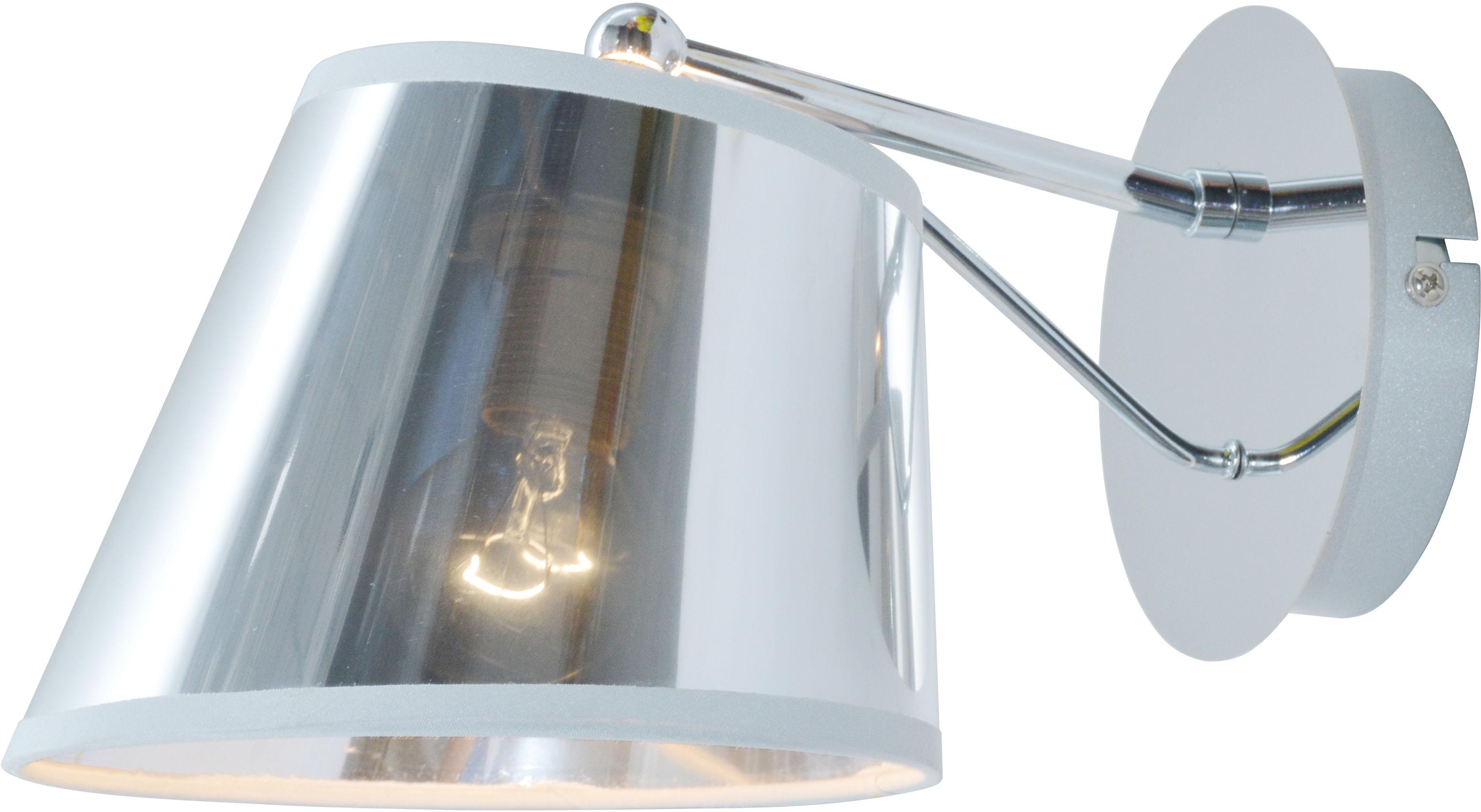 Candellux CORTEZ 21-55002 kinkiet lampa ścienna chrom efekt lustra abażur 1X40W E14 16cm