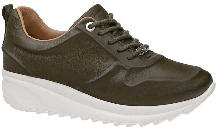 Komfortowe Sneakersy MANITU 850439-7 Olive Oliwkowe Półbuty