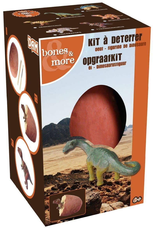 Duża figurka dinozaura - wykopalisko z jajka 10 cm
