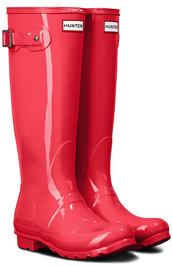 Kalosze damskie HUNTER Womens Original Tall Gloss różoweWFT2000RGL HYPER PINK