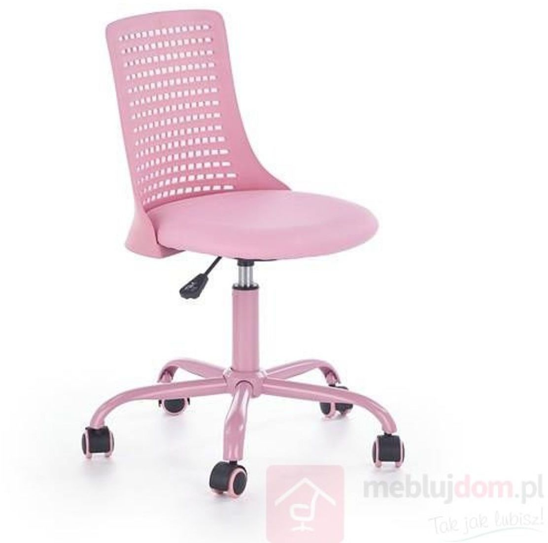 KUPON 10% NA STRONIE  Fotel obrotowy PURE Halmar Różowy