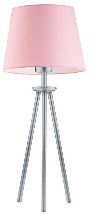 Lampka do sypialni na srebrnym stelażu - EX915-Berges - 18 kolorów