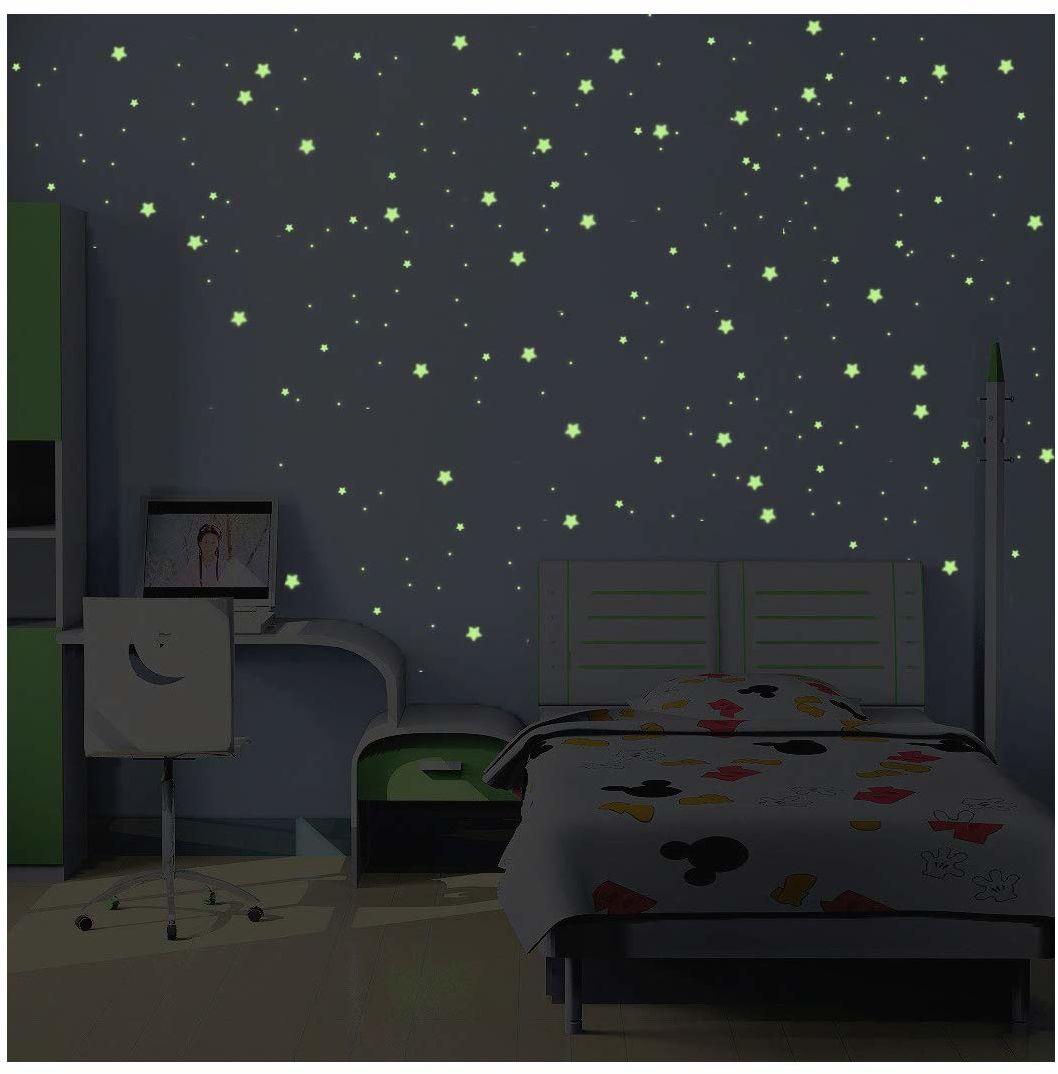 """Naklejka gwiazdkowa """"Droga mleczna"""", świecąca  480 mini gwiazdek i planet"""