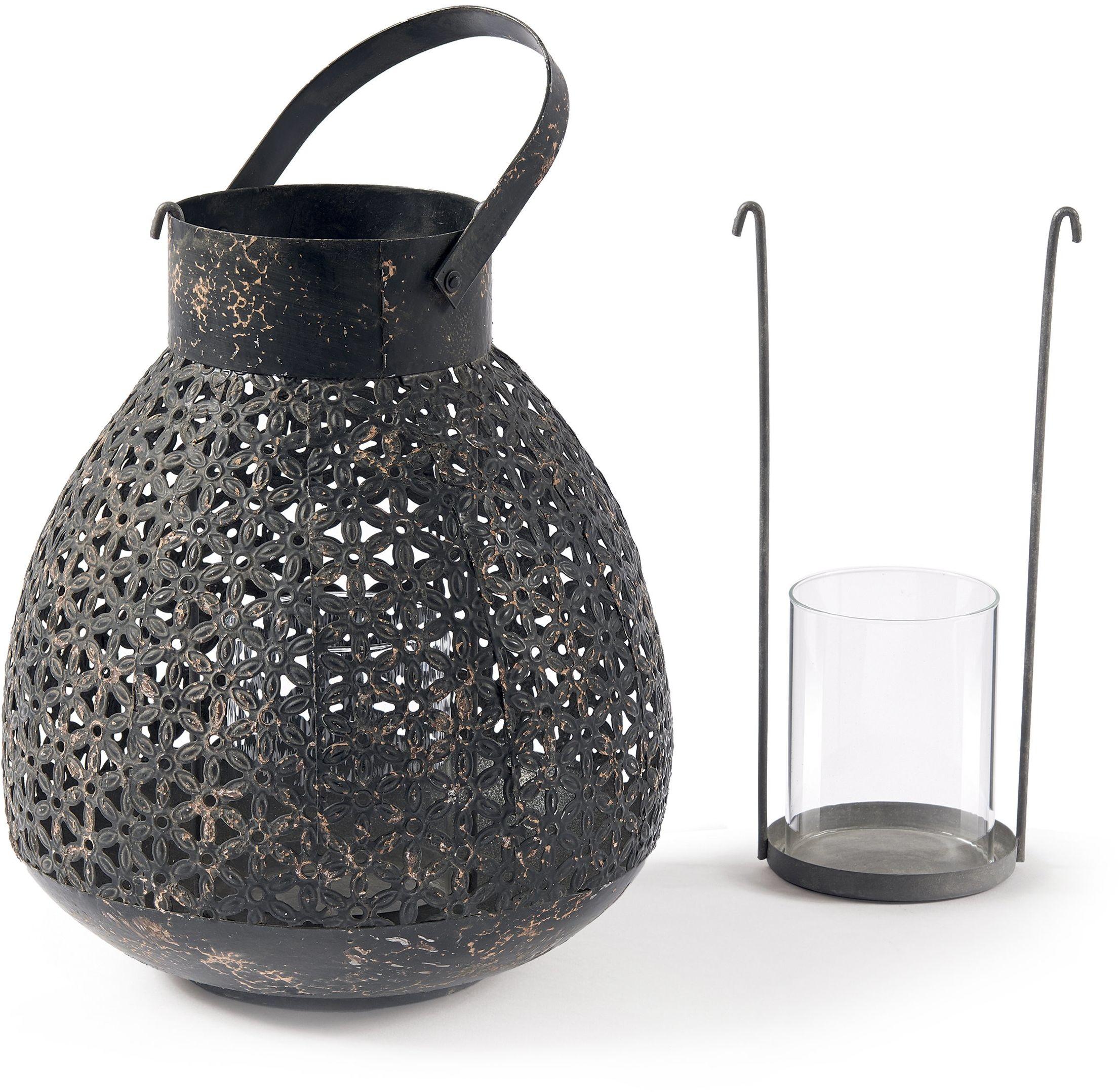 Fill Doha latarnia, średnica 230 mm x wysokość 260 mm, grafitowa, metal