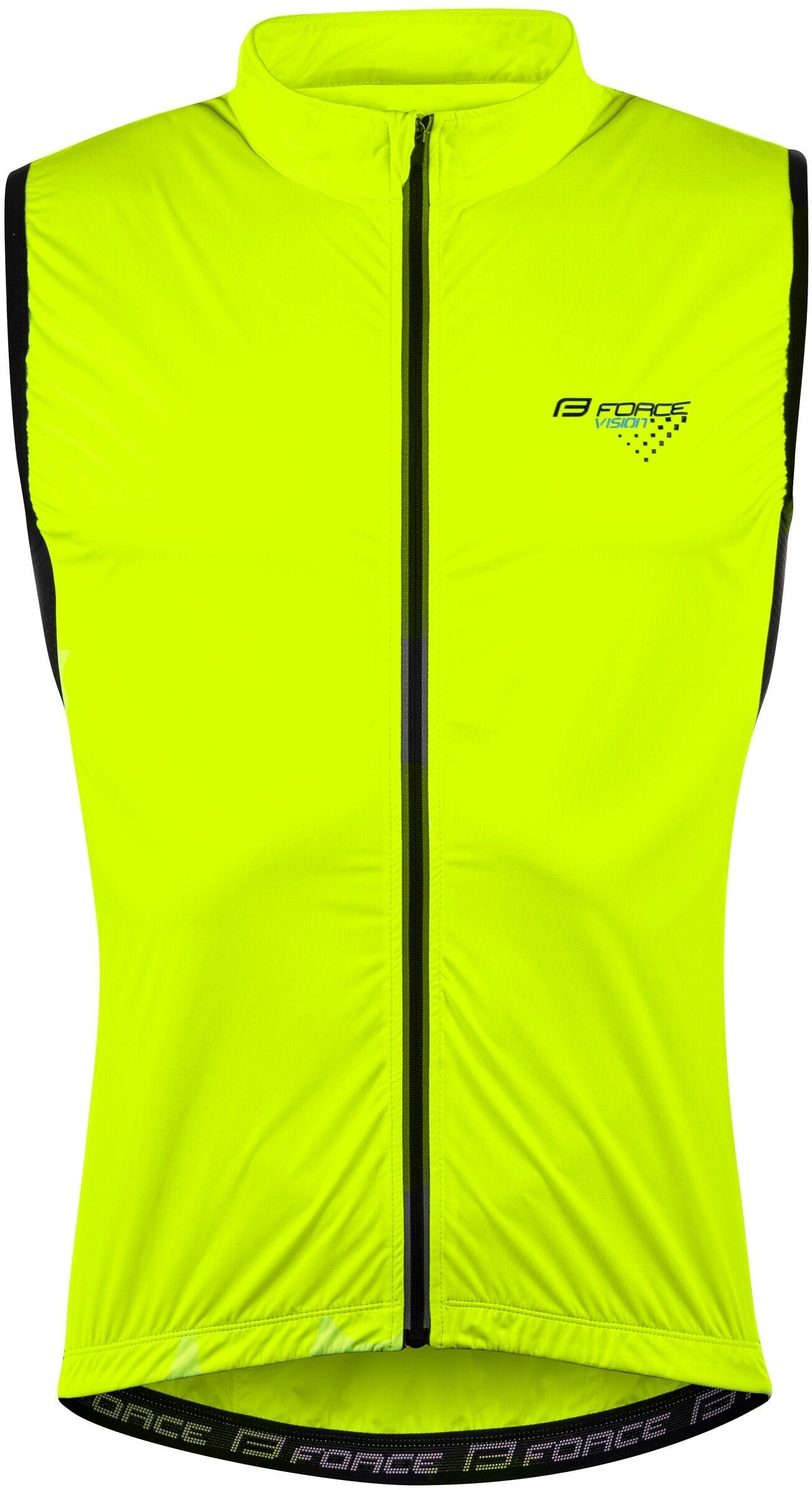 FORCE rowerowa kamizelka wiatroodporna VISION fluo 899640 Rozmiar: 2XL,vision899640