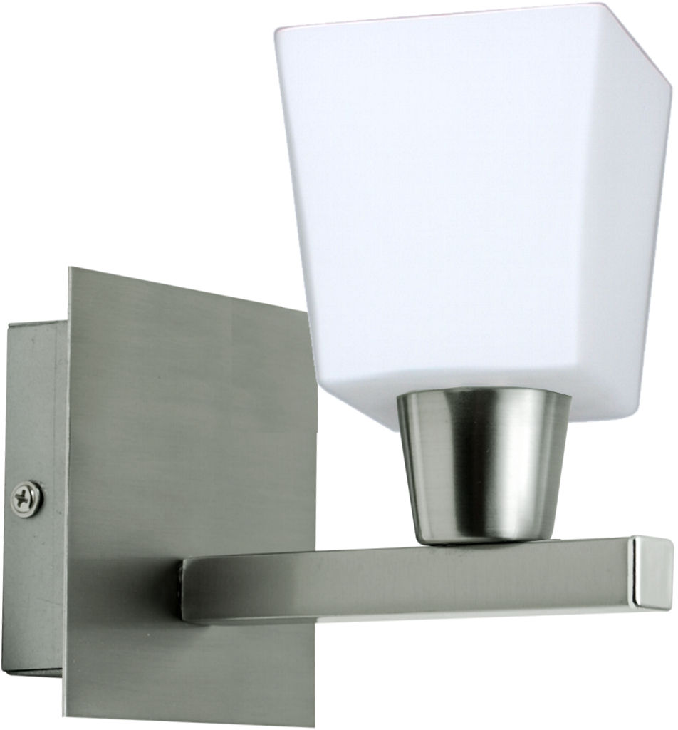 Candellux MAXIM 21-00408 kinkiet lampa ścienna nikiel mat szklany klosz 1X40W E14 12cm