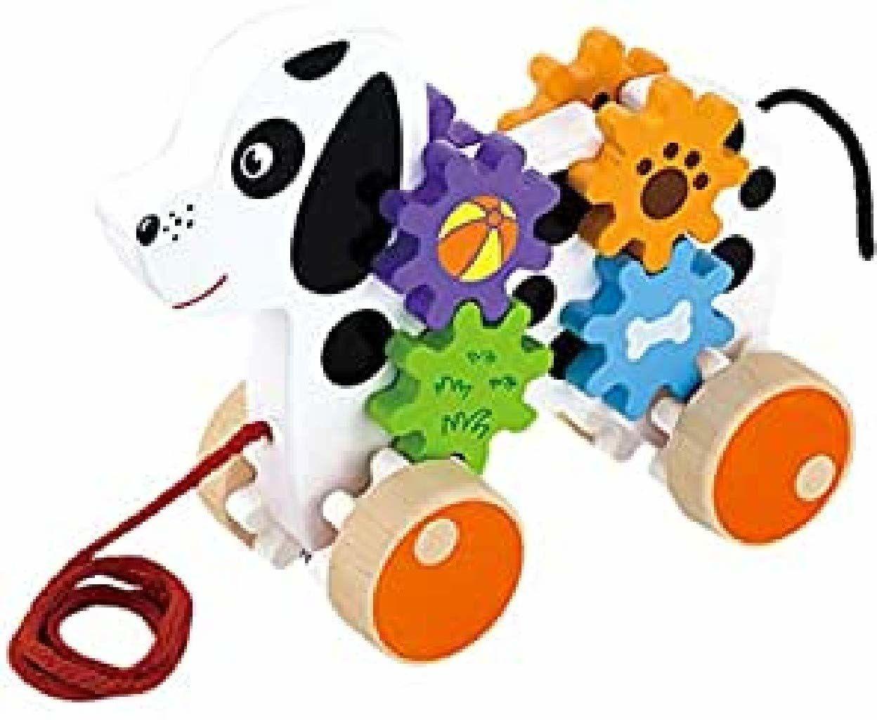 Viga Toys  pies z kołem zębatym