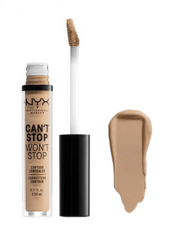 NYX Professional Makeup - CAN''T STOP WON''T STOP- CONCEALER - Korektor w płynie - SOFT BEIGE