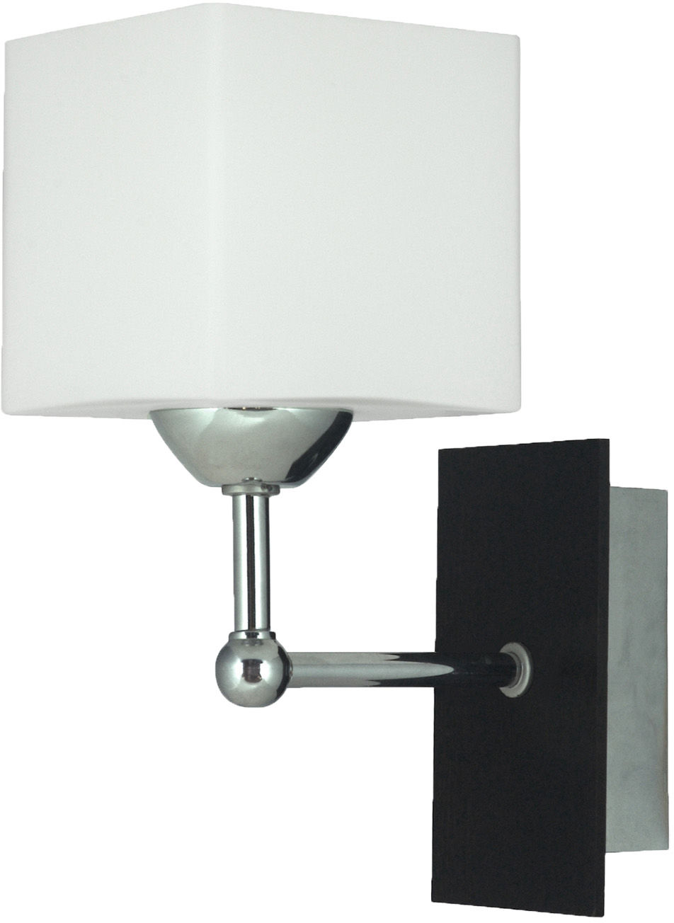 Candellux CUBETTO 21-24513 kinkiet lampa ścienna podstawa drewno szklany klosz 1X60W E27 10cm