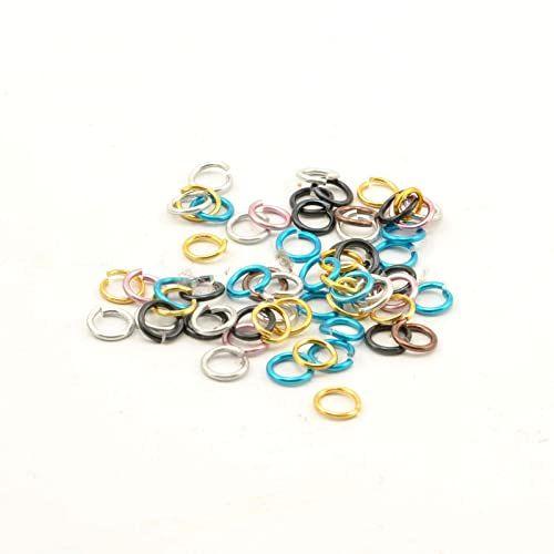 Vaessen Creative Alu Deco zginane pierścienie 7,25 mm wielokolorowe 150 sztuk, aluminium, 0, 72 x 0,2 cm, 150 sztuk