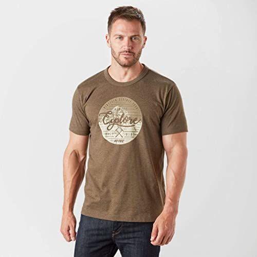 HI-TEC męska koszulka z barnetem, niebieski zmierzch, duży