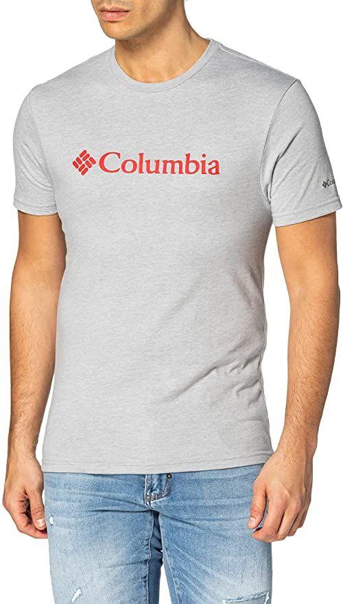 Columbia Męska koszulka z krótkim rękawem z logo Csc Basic Szary (Columbia Grey Heather) S