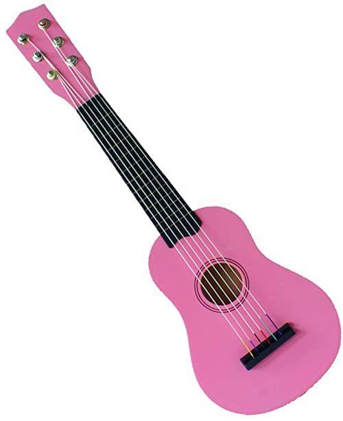 Concerto 701207 gitara 55 cm, dziecięca gitara z drewna, instrument muzyczny dla początkujących, drewniana gitara do nauki, dla początkujących dla dzieci od 3 lat, gitara koncertowa do ćwiczeń, różowa