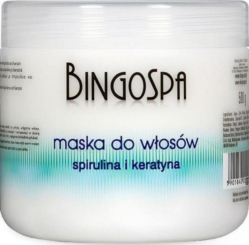 BINGOSPA - Maska do włosów ze spiruliną i keratyną - 500g
